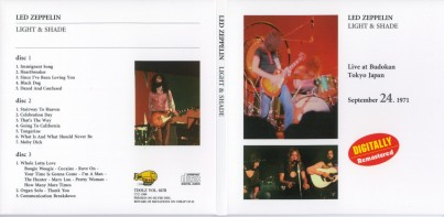Led Zeppelin Live 1971 - 1st Japan Tour